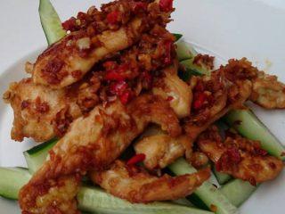 Grilled Spicy Garlic Chicken Breast