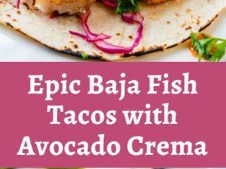 Epic Baja Fish Tacos with Avocado Crema 4