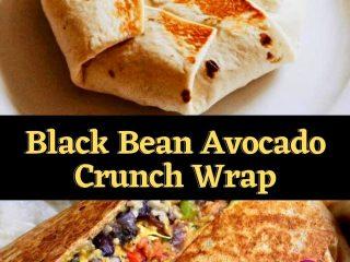 Black Bean Avocado Crunch Wrap
