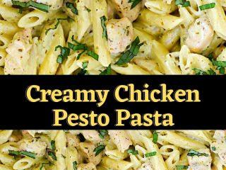 Creamy Chicken Pesto Pasta #chickenrecipe #chickenandrice #dinner
