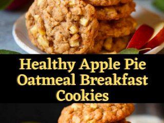 Healthy Apple Pie Oatmeal Breakfast Cookies #healthyrecipe #healthysouprecipe