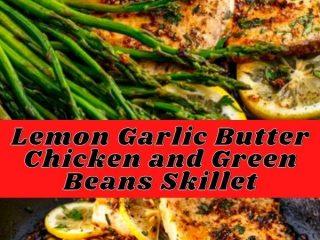 Lemon Garlic Butter Chicken and Green Beans Skillet (3)