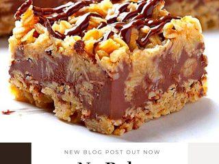 No Bake Chocolate Oatmeal Bars #NoBake #Chocolate #Oatmeal #Bars (1)
