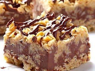 Easy No Bake Chocolate Oatmeal Bars