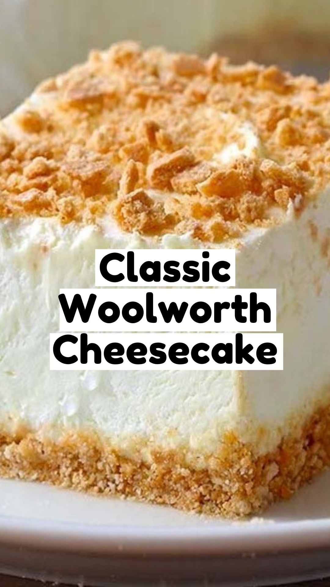 Easy No Bake Classic Woolworth Cheesecake Recipe